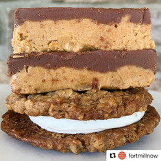 Peanut Butter Choco Bar and Oatmeal Cookie Cream Pies