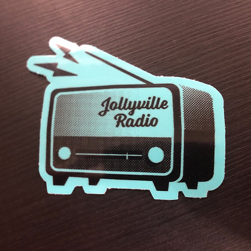 Blue Jollyville Radio Sticker