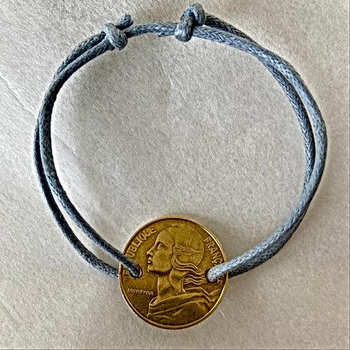 Bracelet pièce 20 centimes franc