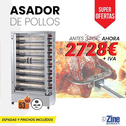 ASADOR DE POLLOS 840 EKO A GAS