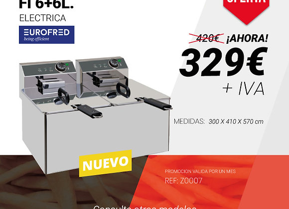 FREIDORA Línea Mini Eurofred Fi 6+6L. eléctrica