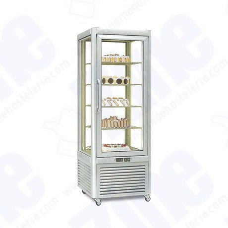 Armario 4 caras de cristal pastelería Tecfrigo PRISMA 400 BT