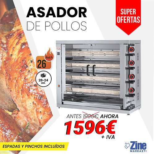 ASADOR DE POLLOS 420 EKO A GAS
