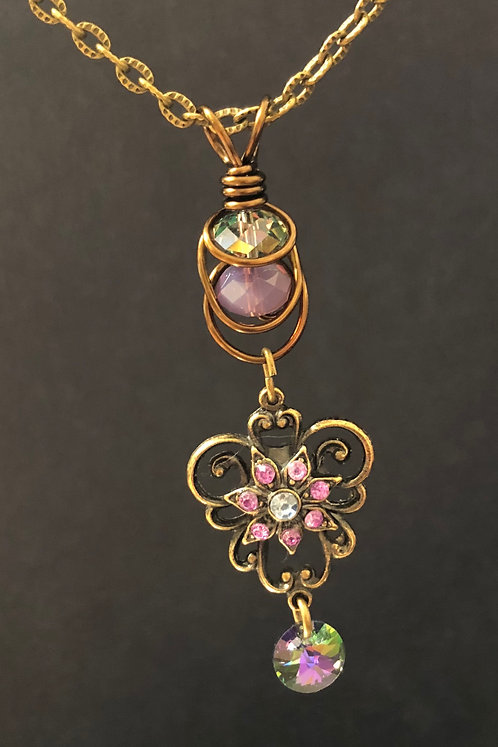 Elegant Swarovski (Vintage Bronze) Pendant Necklace
