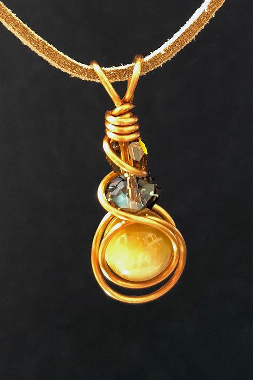 Honey Tiger Eye (Bronze) Pendant Necklace