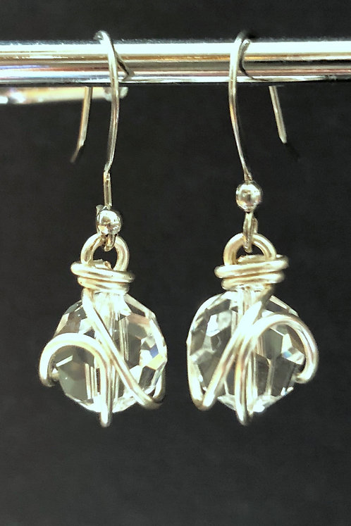 Swarovski Crystal (Silver) Earrings