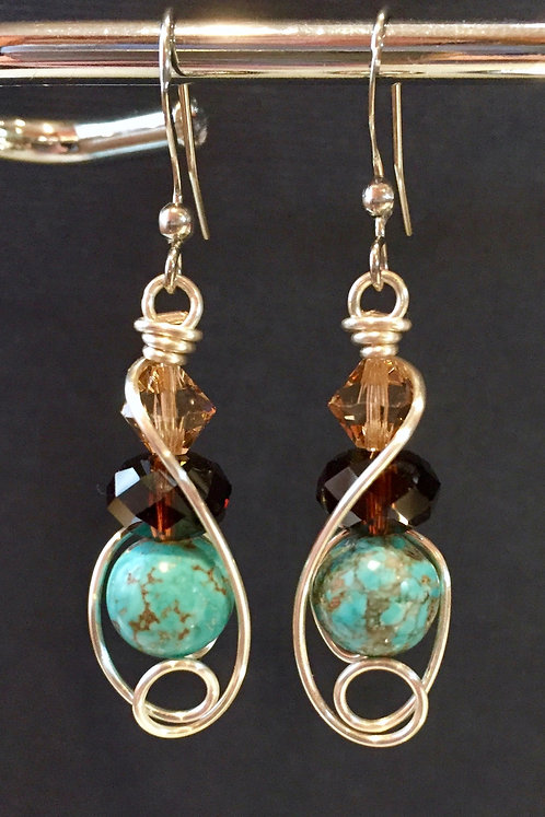 A touch of the Southwest (Silver) Earrings