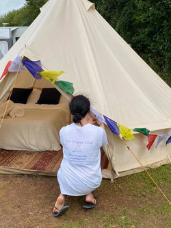 Bell tent forest