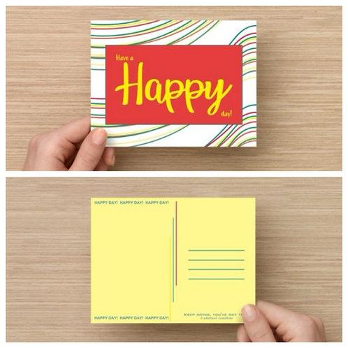 Happy Postcard Pack