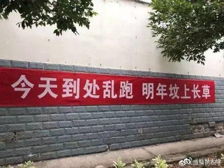 'Vandaag hang je buiten rond, volgend jaar groeit er gras op je graf' anti-corona slogans in China