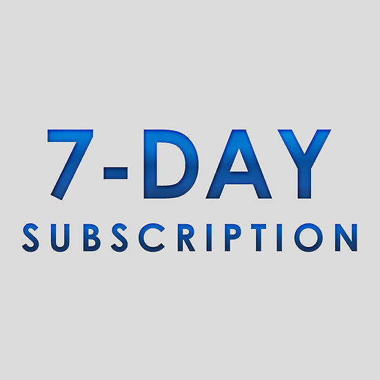 7 Day Subscription Plan