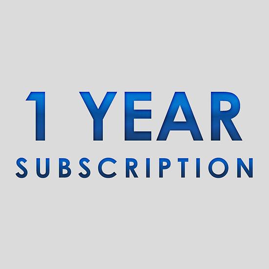 1 Year Subscription Plan