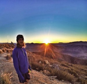 Brian Peterson at sunrise