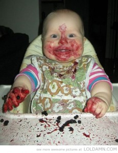 funny-baby-red-fruit-mess