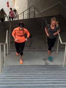 Get your plyometrics on by running stairs.