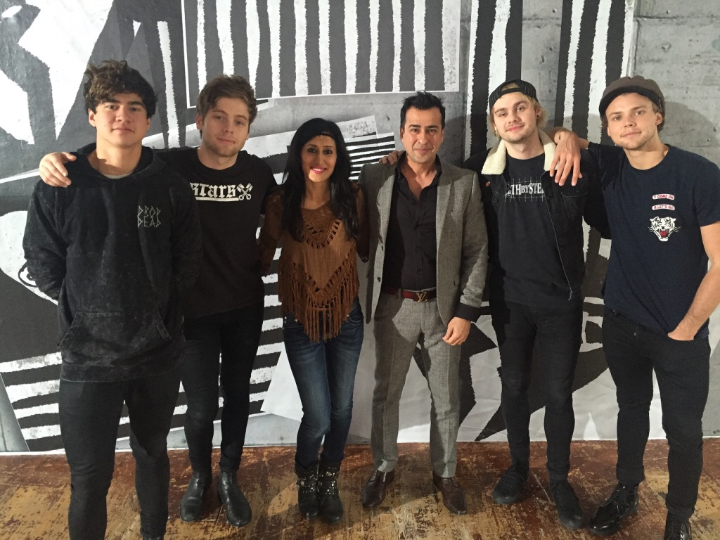 5 Seconds of Summer Band, Teejay Sidhu at  London Universal  Music Studio