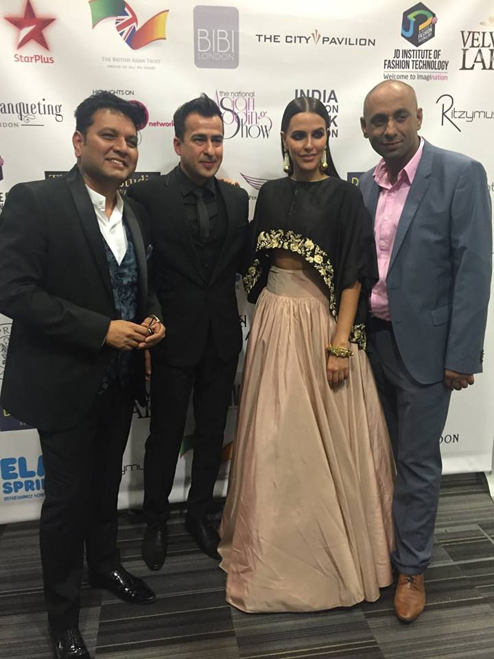 London Fashion Show. Bollywood Actress Neha Dhupia, MD Manny & J D Fashion Insitute