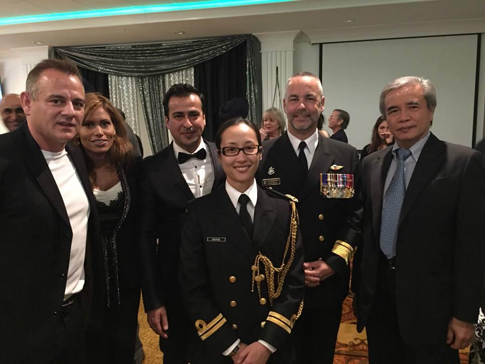 Mr & Ms Dr. Brian Martin  Admiral, Rear-Admiral Bill Truelove OMM CD Commander Canada, Rear-Admiral