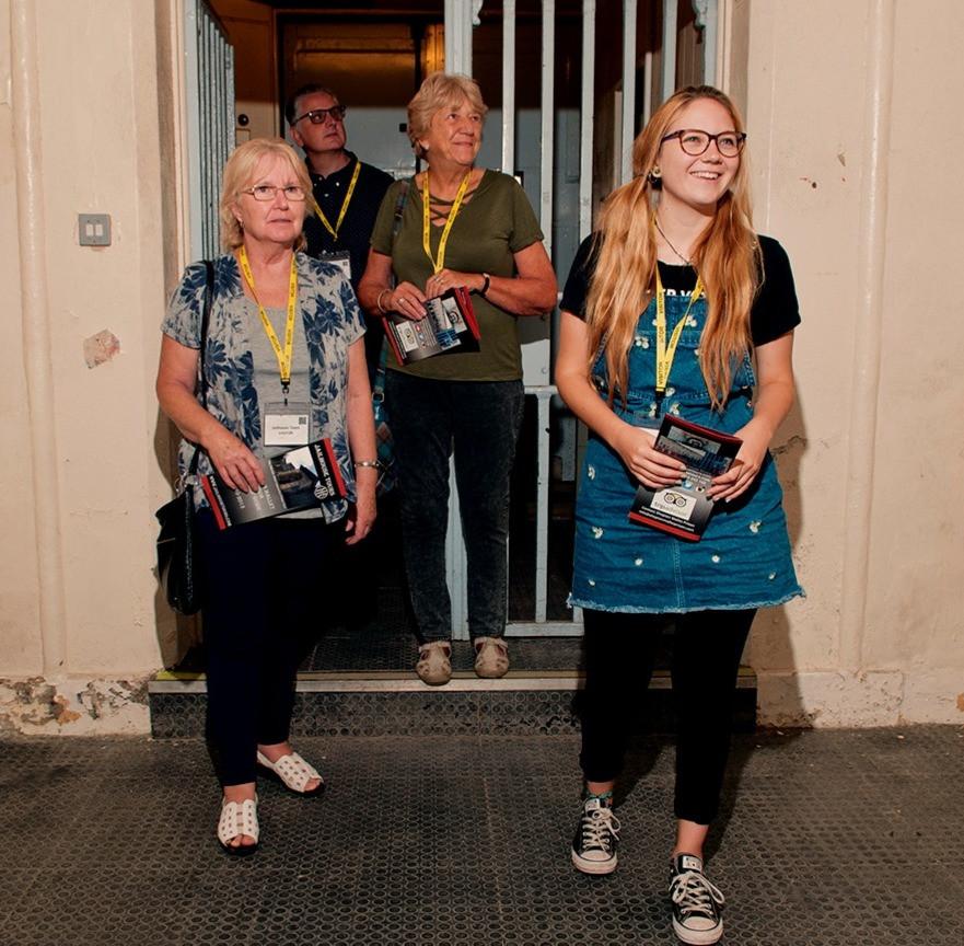 Visitors at Shepton Mallet Prison