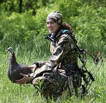 Girl with Turkey Decoy