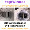 EGR valve mechanic, DPF filter regeneration
