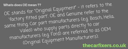 we fit oe car parts at our mechanic service tonbridge sevenoaks and tunbridge wells