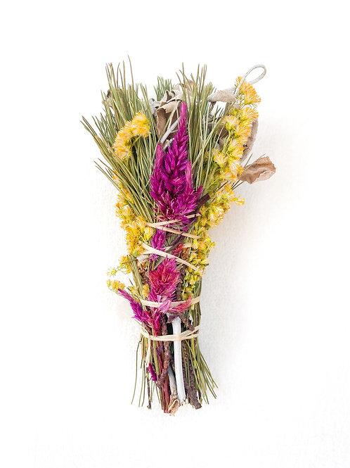 White Sage, Pine, + Floral Bundle
