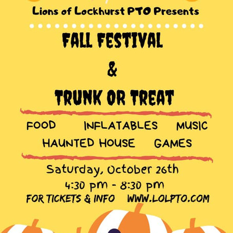 Fall Festival ~ Oct. 26th
