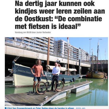 Sea & Cycling Camps staat in Het Nieuwsblad!