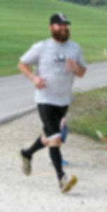 Russ Neufeld running, runtheneuf