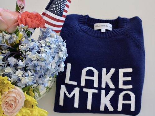 Navy Lake Minnetonka Sweater