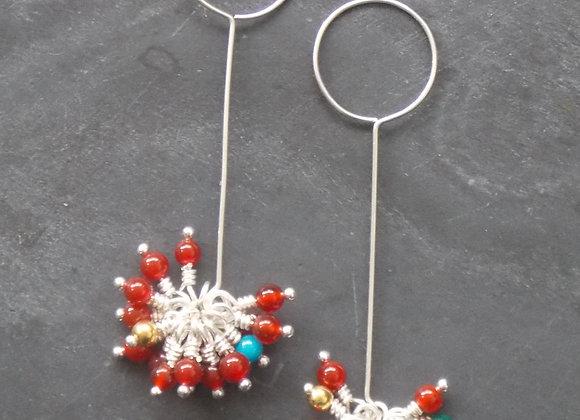 Earth - Fleck Drop Earrings