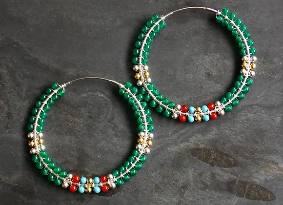 Wrap Earrings - Forest
