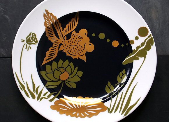 Michael Dinner Plate - Cobalt and Gold