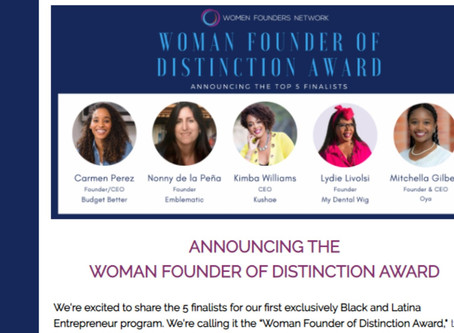 "Lydie Livolsi, Mydentalwig.com Founder Among Top 5 of the 2020 ""Woman Founder of Distinction Award"