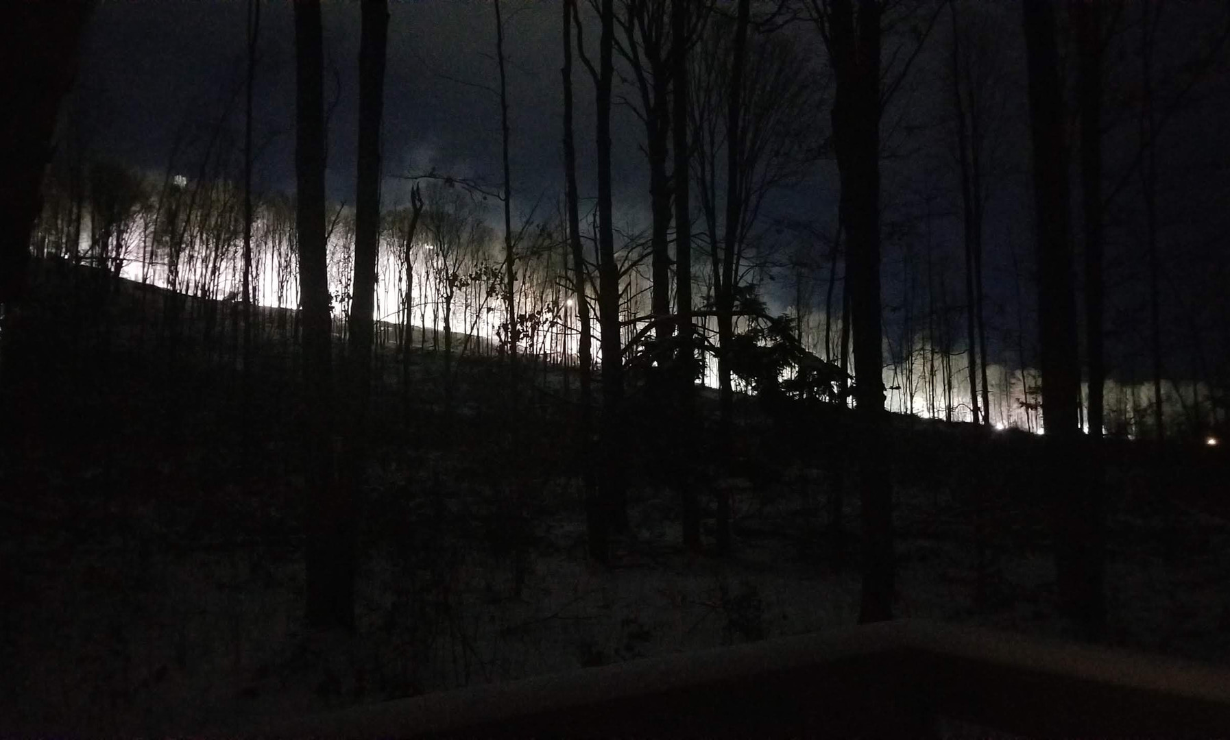 snowmaking from mountain view dining roo
