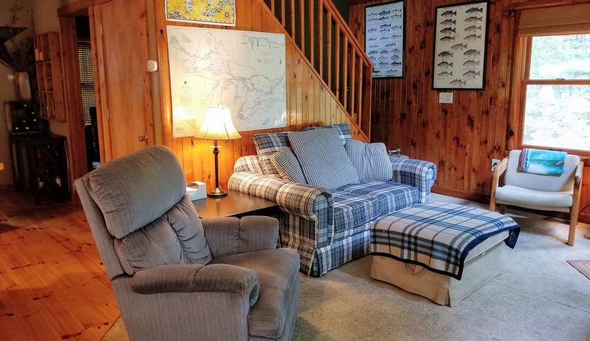 Rental cabin Living area