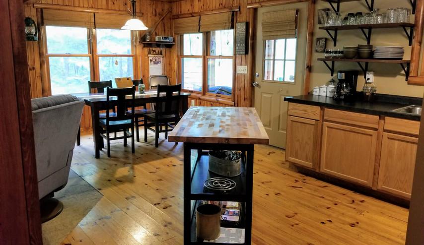 Rental cabin kitchen