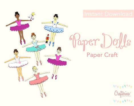 Nutcracker Paper Doll Set