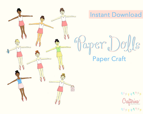 Ballerina Paper Doll Set