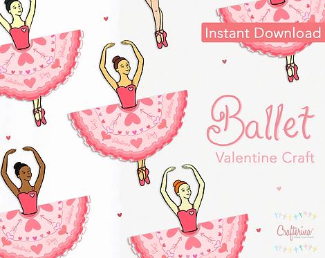 Ballerina Printable Valentine Craft