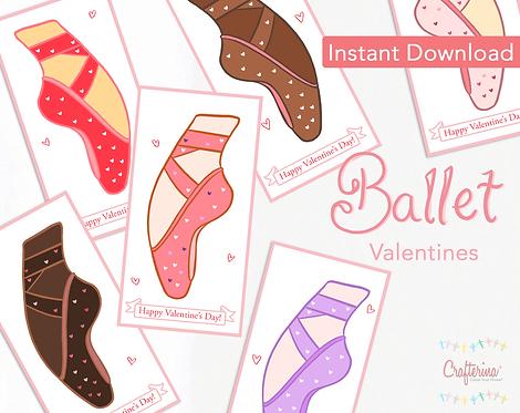 Ballerina Printable Valentines