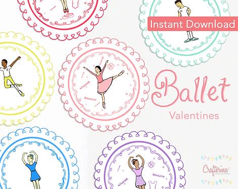 Ballet Printable Doily Valentines