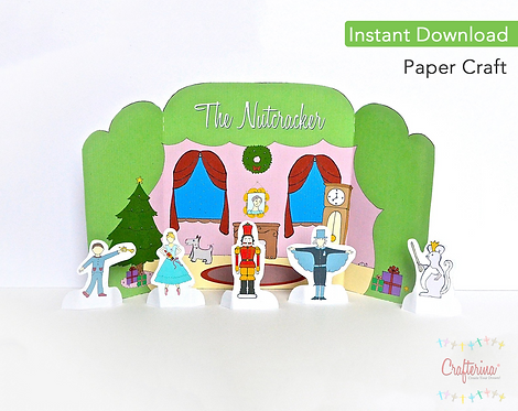 Nutcracker Party Scene Printable Playtime Tableau