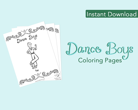 Dance Boys Coloring Pages