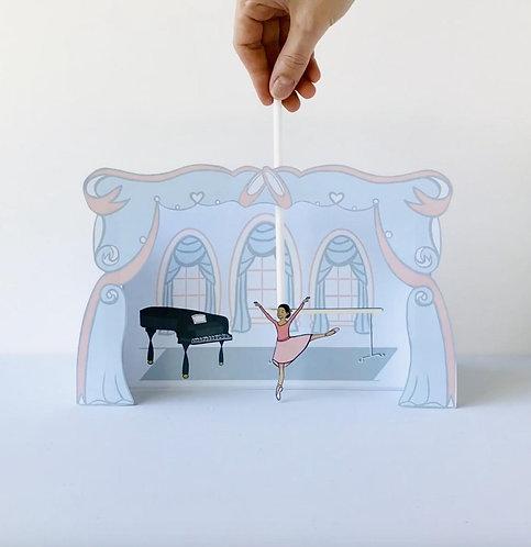 Ballet Class Printable Puppet Theater