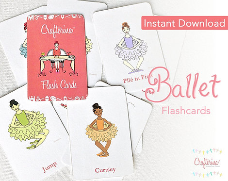My Very Own Crafterina Collection Printable Flashcards