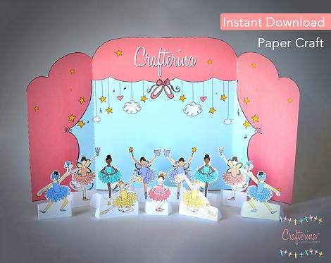 Crafterina Ballerina Printable Playtime Tableau