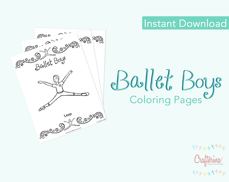 Ballet Boys Coloring Pages