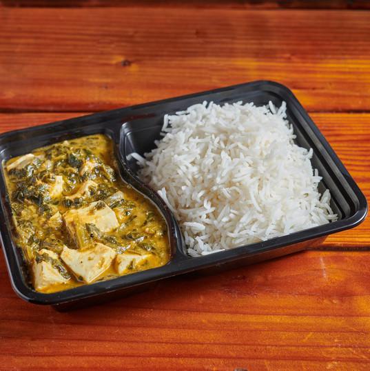 Saag Paneer w/ Basmati Rice